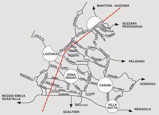 LA CARTA GEOGRAFICA DEL TERRITORIO DI LUZZARA